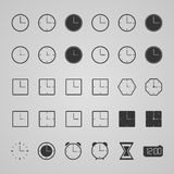 Set of clock icons,  illustration. Collection of clock icons,  illustration Royalty Free Stock Images