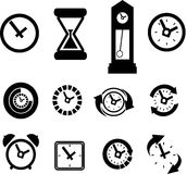 Set of clock icons Stock Photo
