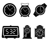 Set of clock icons Stock Image