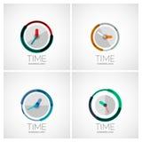 Set of clock, time company logos Stock Image