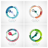 Set of clock, time company logos Stock Photo