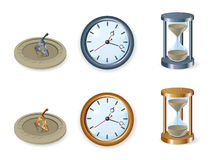 Set of clocks Stock Image