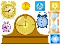 Set of clocks Stock Photo