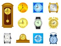 Set of clocks Royalty Free Stock Image