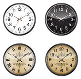 Set of clocks Stock Images