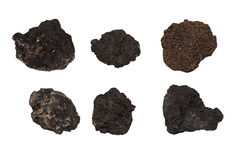 Set clods of soil isolated Royalty Free Stock Photography