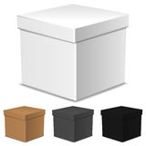 Set of closed  boxes isolated on white Royalty Free Stock Photos