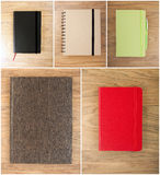 Set closed notebooks Stock Photo