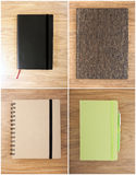 Set closed notebooks Royalty Free Stock Image