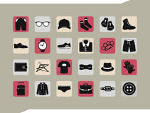 Set of cloth icons Stock Photo
