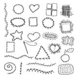 Set of cloth patches Stock Images