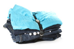 Set of clothes stock images