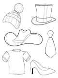 Set of clothes and accessories Royalty Free Stock Image