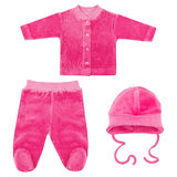 Set of clothes for babies and children, isolation Royalty Free Stock Photography