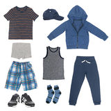 Set of clothes for boy Stock Images