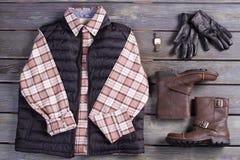 Set of clothes for brutal men. Stock Image