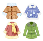 Set of  clothes for children. Set of winter clothes for children Royalty Free Stock Image