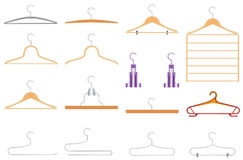Set of clothes hangers Stock Image