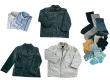 Set of clothes isolated Stock Image