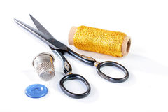 Set for clothes repair Stock Photography