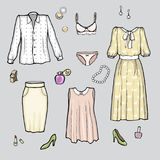 Set of clothes in vector Royalty Free Stock Images