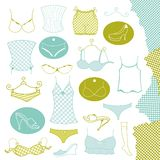 Set of clothes woman Royalty Free Stock Photography