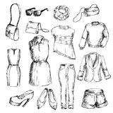 Set of clothes for women vector illustration