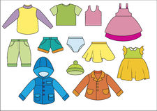 A set of of clothing Stock Image