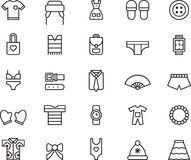 Set of clothing and accessories icons Stock Photo