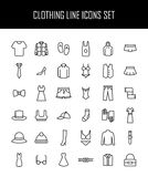 Set of clothing icons in modern thin line style. Stock Photography