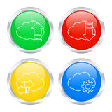 Set of cloud buttons Stock Photo