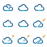 Set of Cloud icons 1 stock illustration