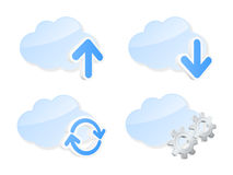 Set of cloud icons Stock Photo
