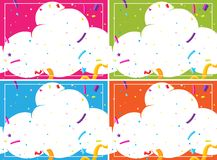 A set of cloud party blank template stock illustration