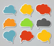 Set of Cloud Shaped Speech Bubbles Vector Illustration Royalty Free Stock Images