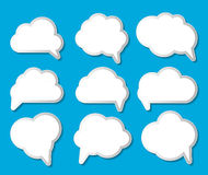 Set of Cloud Shaped Speech Bubbles Vector Illustration Royalty Free Stock Photos
