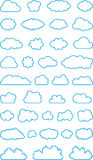 Set of cloud shapes Royalty Free Stock Image