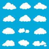 Set cloud, smoke element decor isolated for game art web design Stock Photography