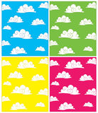 Set of cloud vector backgrounds Royalty Free Stock Photography