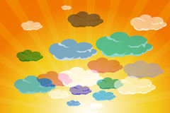 Set of clouds Royalty Free Stock Images