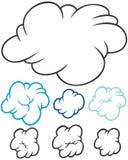 Set of clouds Stock Photos