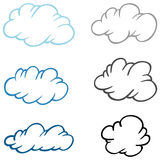 Set of clouds Stock Images