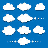 Set of clouds. Vector illustration Royalty Free Stock Photo