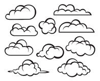 Set of clouds Royalty Free Stock Photography