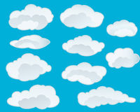 Set of clouds Stock Photography