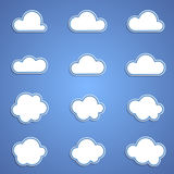 Set of clouds. Abstract icons - set of clouds Stock Image