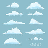 Set of clouds. On blue Royalty Free Stock Photos