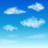Set of Clouds on blue sky. Royalty Free Stock Photography