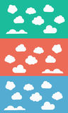 Set of clouds. Bright background with clouds of different shapes for website Royalty Free Stock Photo