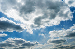 Set of clouds in the bright sky Royalty Free Stock Images